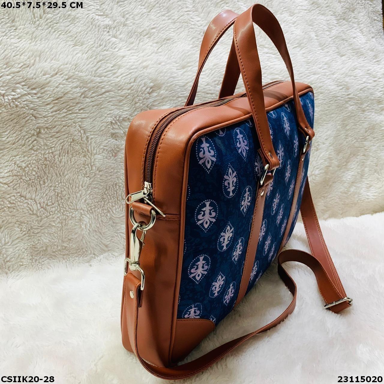 Designer Ikkat Laptop Bag
