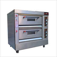 Stainless Steel Double Deck Pizza Oven