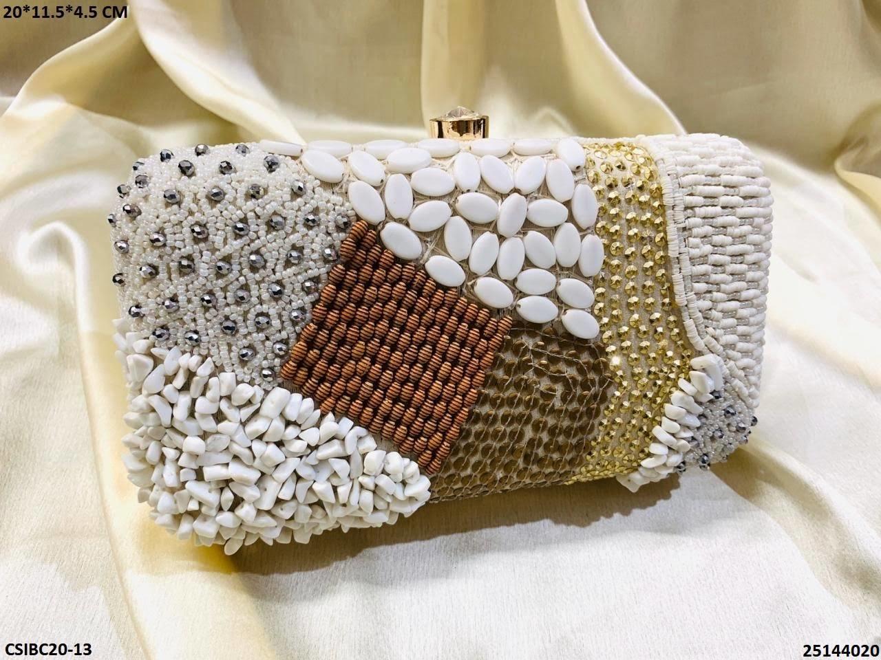 Designer Bridal Box Clutch