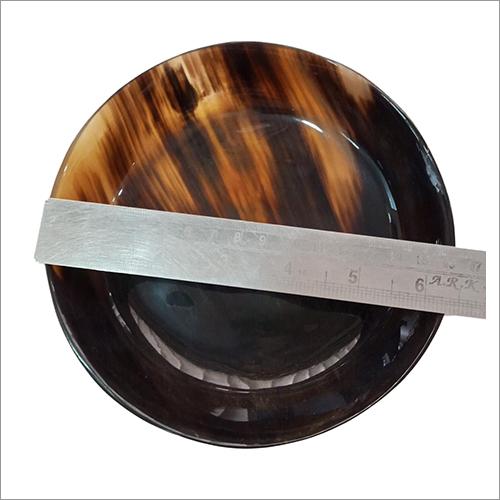 Buffalo Horn Round Button