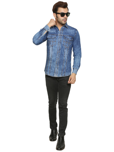 Mens Regular Fit Plain Shirts