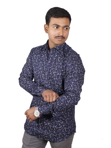 Mens Designer Dotted Printed Shirts