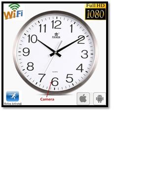 Wi-fi Hidden Camera Wall Clock