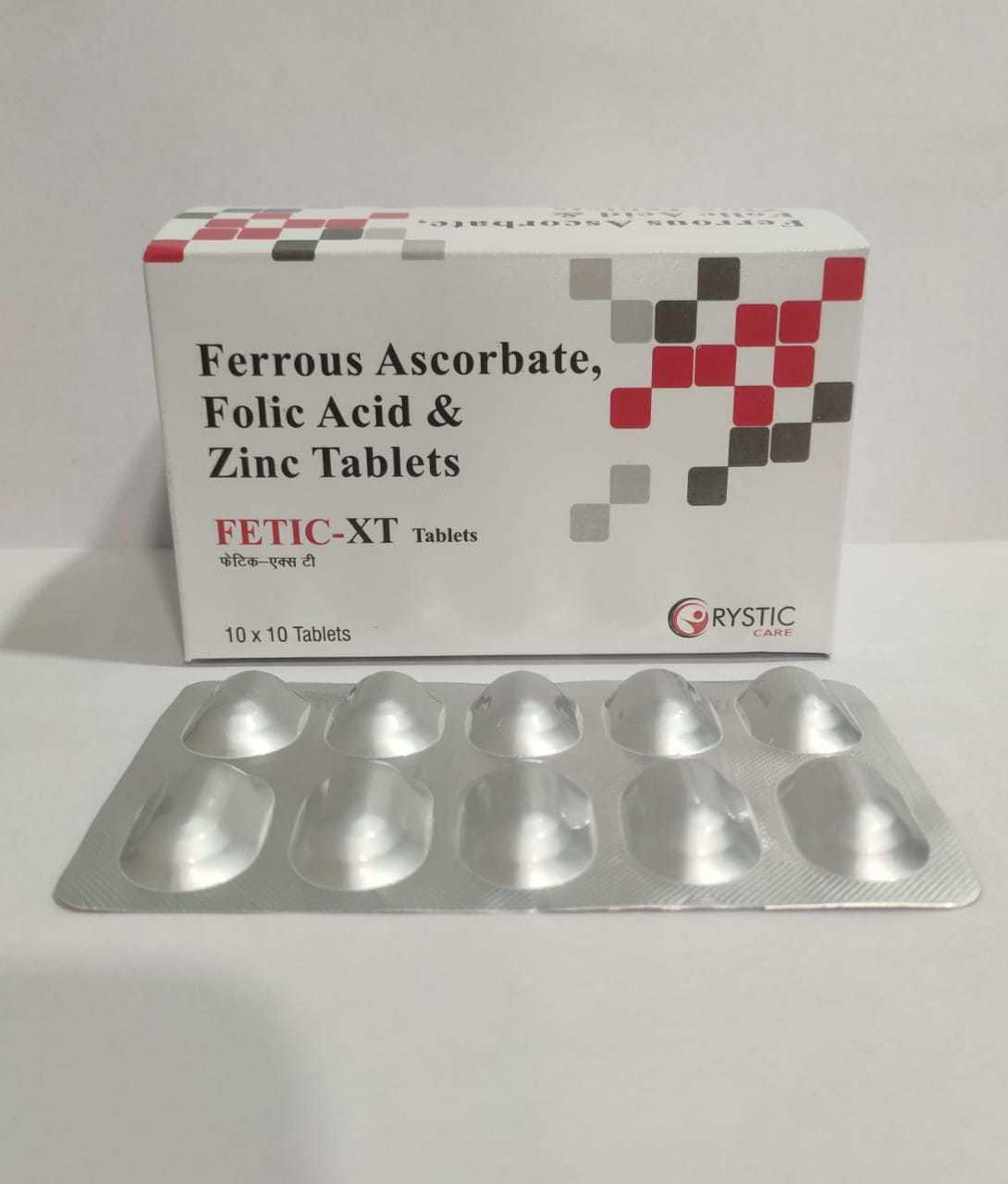 Ferrous Ascorbate, Folic Acid & Zinc Tablets