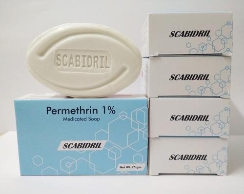 Permethrine soap