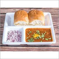 3 Partition Plain Pavbhaji Plate