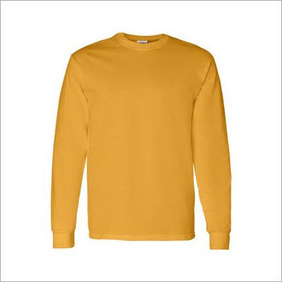 Mens Yellow Full Sleeve T-Shirts