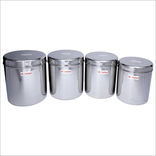 Stainless Steel Plain Cover Ubha Dabba