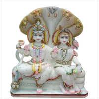Marble Fancy Vishnu Laxmi Statue