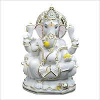 White Makrana Ganesh Statue