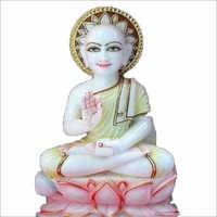 Marble Gautam Swami Statue
