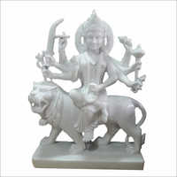 White Marble Durga Mata Murti