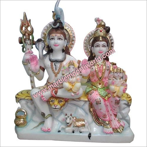Shiv Parivar And Shiv Parvati Statue