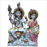 Marble Colored Shiv Parivar Statue
