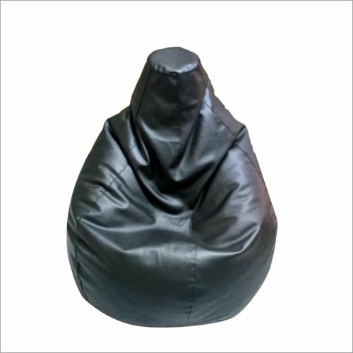 Black Leather Bean Bag