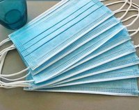 Blue Pleated Surgical Masks Three Layer