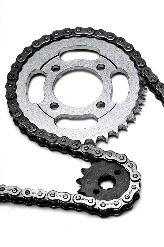 Motorcycle chain and sprocket kit