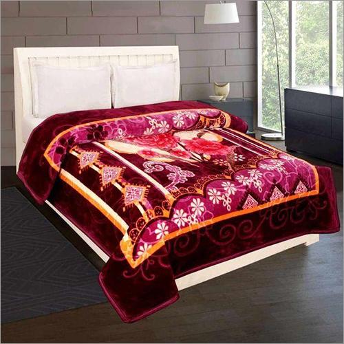 Shilay Purple Floral Soft Mink Blanket