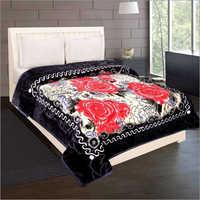 Shilay Black Rose Soft Mink Blanket