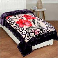 Shilay Black Floral Soft Mink Blanket