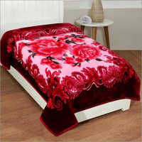 Shilay Pink Floral Soft Mink Blanket
