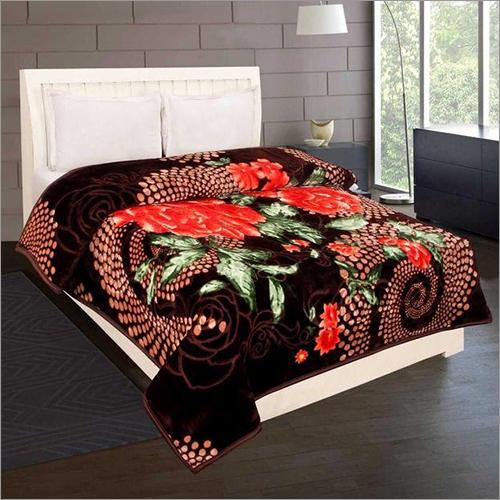 Shilay Brown Rose Soft Mink Blanket