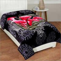 Shilay Black Tulip Floral Soft Mink Blanket