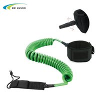 10ft leash for surf board, stand up paddle board tether Super strong webbing rubber strap cuff and double swivel