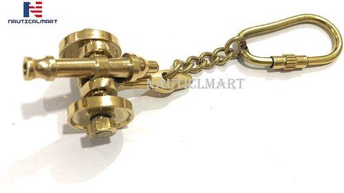 Nauticalmart Brass Cannon Keychain
