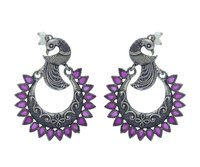 Peacock Design Oxidise Earrings