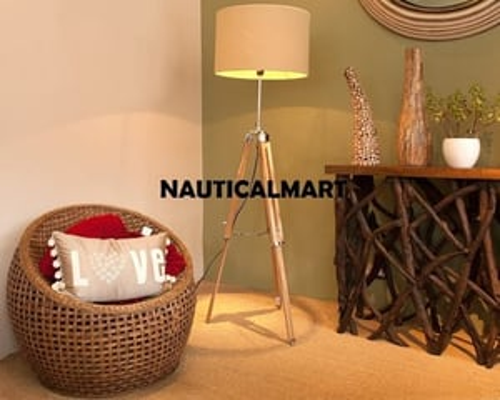 Vintage Lamp Tripod Stand For Floor Lighting For Living Room Decoration