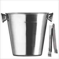 Ice Stainless Steel Buckets With Tong Promotional