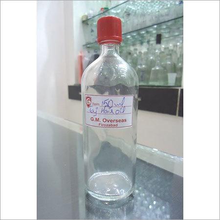 150 Ml Taj Hair Oil Empty Glass Bottles