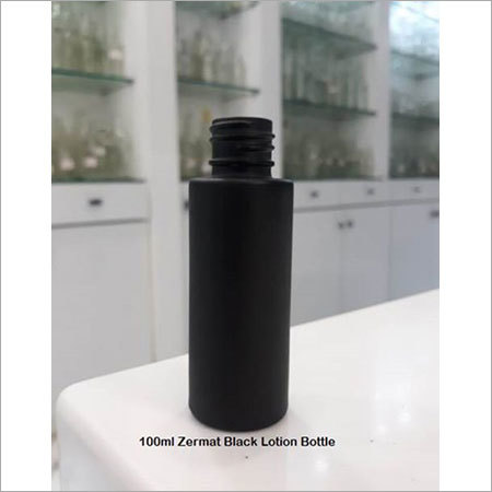 100ml Zermat Lotion Black Glass Bottle