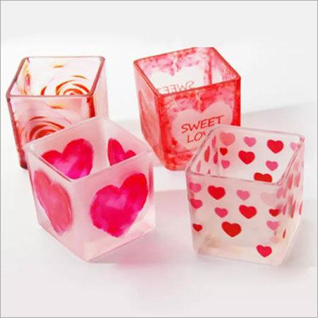 Heart Square Candle Jar Votive Holder