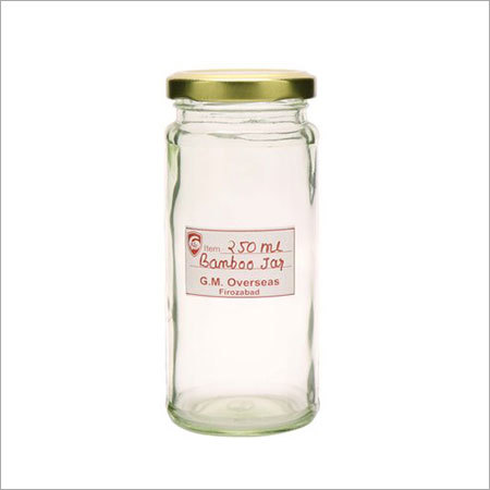 250 Ml Bamboo Empty Glass Jars