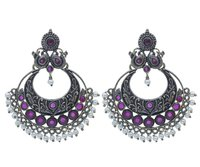 Chandbali Oxidised Earrings