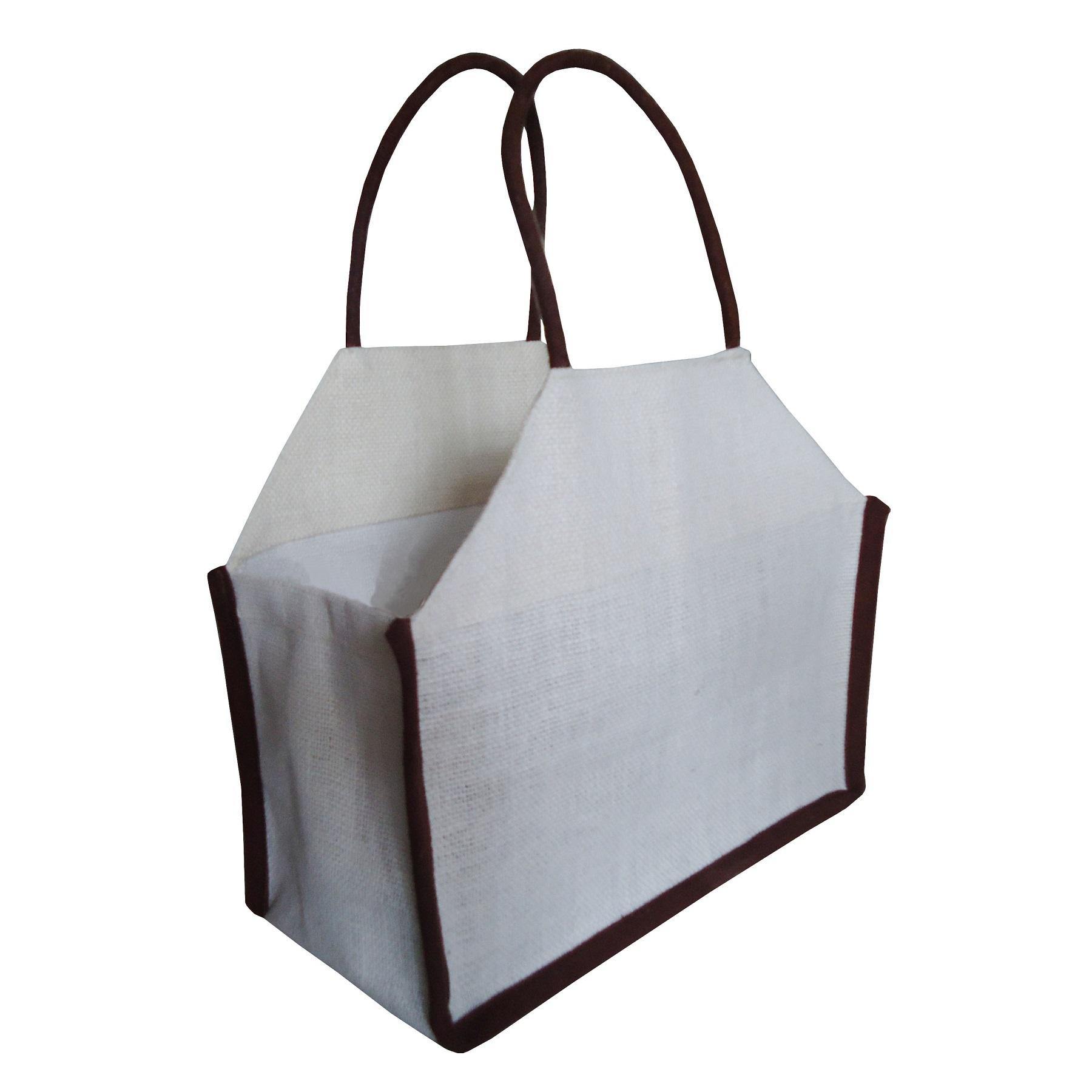 Bakery Packaging Promotional PP Laminated Jute Tote Bag