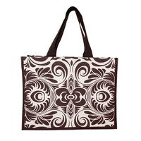 Soft Handle Allover Print Canvas Tote Bag