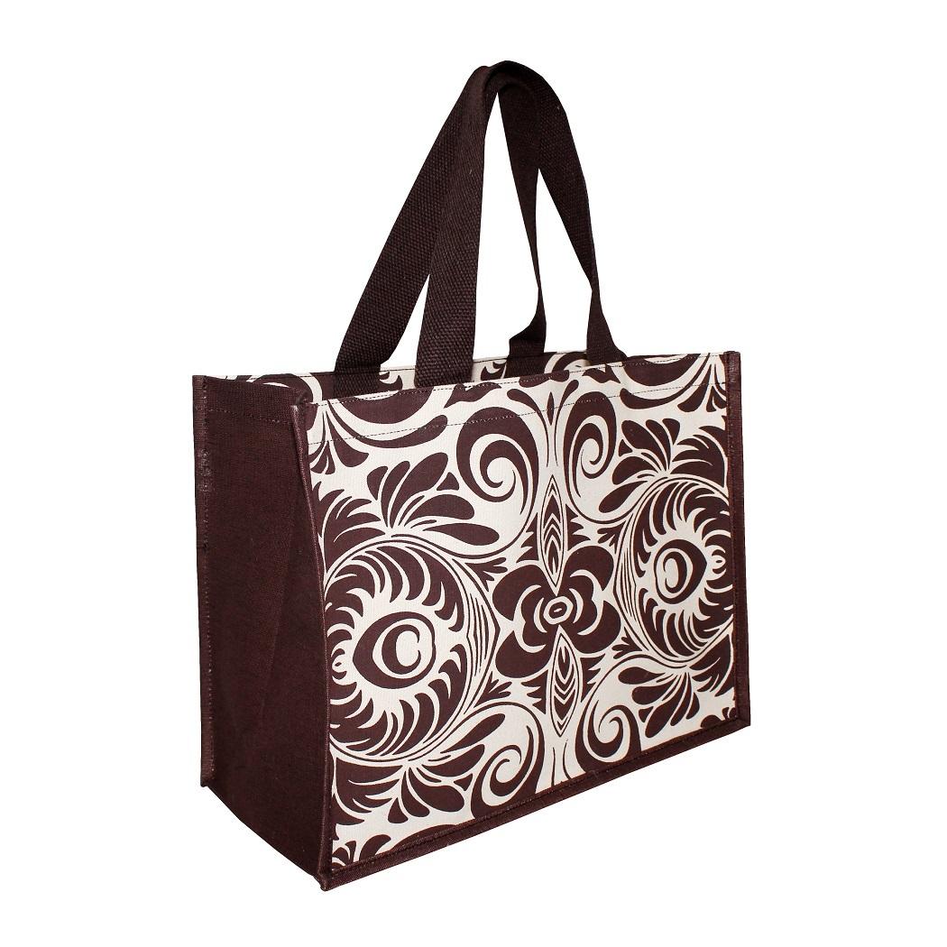 Soft Handle Allover Print Canvas Tote Bag