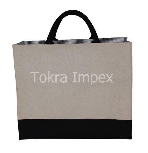 Padded Handle PP Laminated Canvas Tote Bag