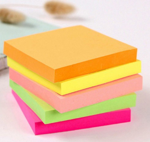 400 Sheets (3X3) Fluorescent Paper Self Adhesive and Removable Sticky Notes