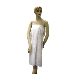 Disposable White Salon Gown