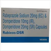 Rabeprazole Sodium 20mg (Ec) And Domperidone 10mg (Ir) Domperidone 20mg (Sr) Capsules