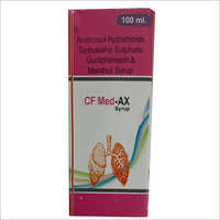 100 ml Ambroxol Hydrochloride Terbutaline Sulphate Guaiphenesin And Menthol Syrup