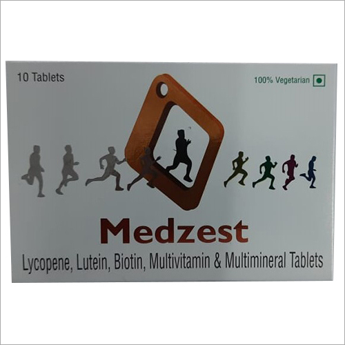 Medzest Lycopene Lutein Multivitamin And Multimineral Tablets