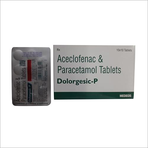 10 x10 Aceclofenac And Paracetamol Tablets