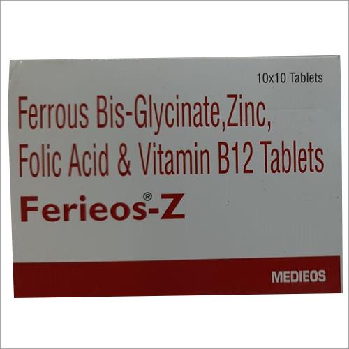 Ferrous Bis-glycinate Zinc Folic Acid And Vitamin B12 Tablets