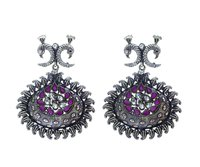 German Silver Oxidised Earrings