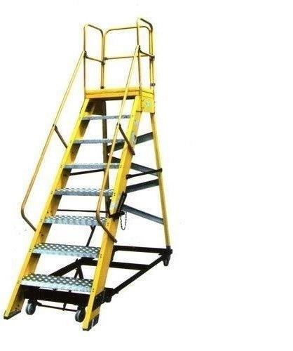 Fiberglass Mobile Maintenance Platform Ladder-10feet (Fpm1010)